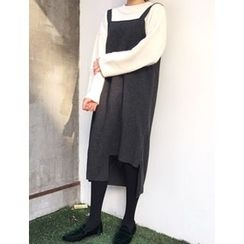 FROMBEGINNING - Cutout-Front Long Jumper Dress