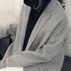 NANING9 - Wool Blend Oversized Coat