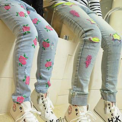 Lullaby - Kids Floral / Star Washed Jeans