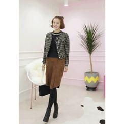 Lemite - Wool Blend Tweed Jacket