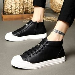 MARTUCCI - Faux-Leather Sneakers