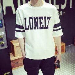 SICRIT - Letter Short-Sleeve T-shirt