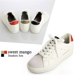SWEET MANGO - Faux-Leather Sneakers