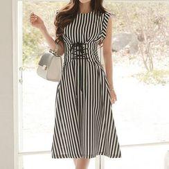Aurora - Sleeveless Striped Dress