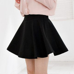 Hyoty - Elasticized Waist Mini Skirt