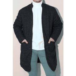 Ohkkage - Mandarin-Collar Single-Breasted Coat