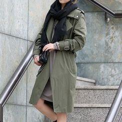 Seoul Fashion - Flap Trench Coat