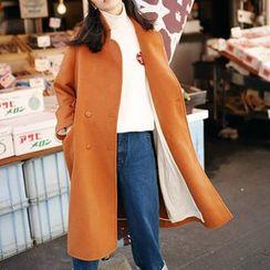 Plum Forest - Woolen Long Coat