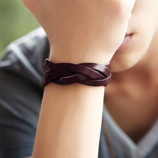 BD Store - Faux-Leather Braided Bracelet