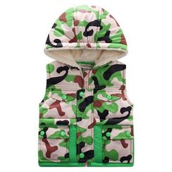 Endymion - Kids Camo Padded Hooded Vest