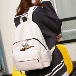 Seok - Bee Embroidered Backpack