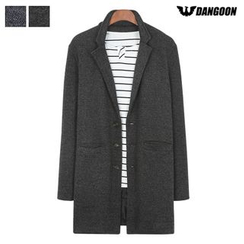 DANGOON - Notched-Lapel Single-Breasted Mélange Coat
