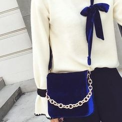 薇薇 - 链条装饰植毛绒斜挎包