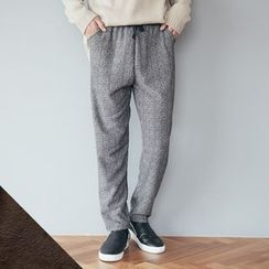 DANGOON - Brushed Fleece Lined Patterned Pants