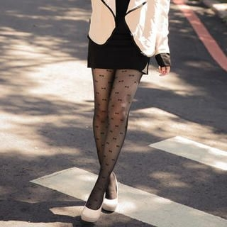 Lucky Leaf - Patterned Tights