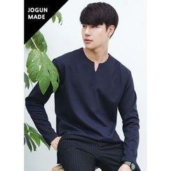 JOGUNSHOP - V-Neck Long-Sleeve T-Shirt