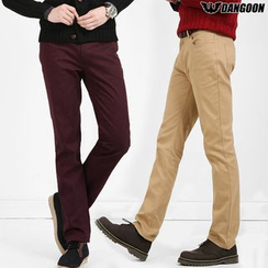 DANGOON - Flat-Front Straight-Cut Pants