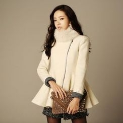 JVLLY - Wool Blend Peplum Jacket