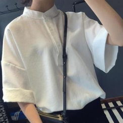 Moon City - Stand-Collar Blouse