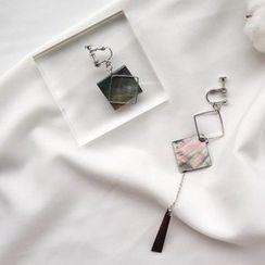 WOQIAO - Shell Non-Matching Drop Earrings
