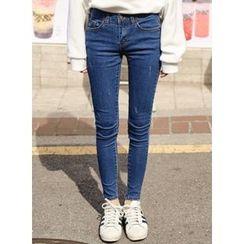 icecream12 - Distressed Skinny Jeans