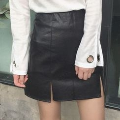 MATO - Faux Leather Mini Skirt