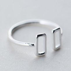 A'ROCH - 925 Sterling Silver Square Open Ring