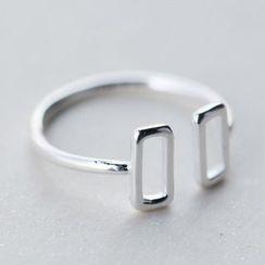 A'ROCH - 925纯银方形开口戒指