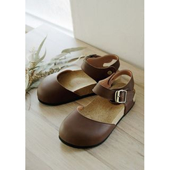 GOROKE - Round-Toe Ankle-Strap Slide Sandals