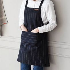 iswas - Pocket Pinstriped Apron