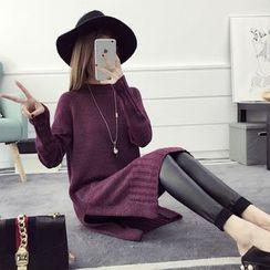 efolin - Side Slit Knit Dress