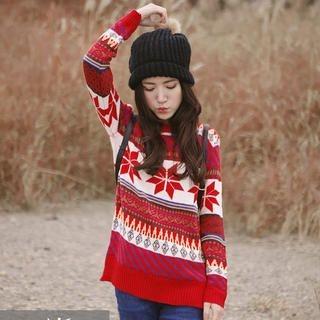 Tokyo Fashion - Nordic-Pattern Sweater