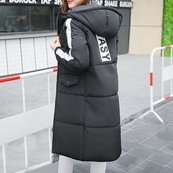 Machiga - Paneled Hooded Padded Zip Coat