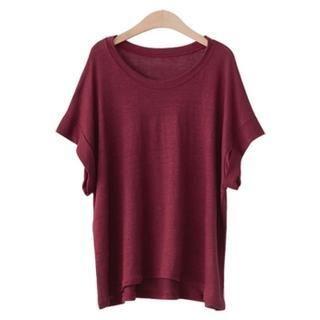 PEPER - Dolman-Sleeve Linen T-Shirt