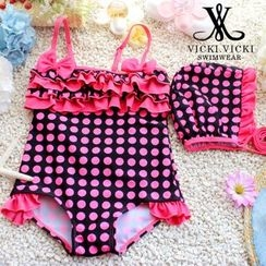 Vicki Vicki - Kids Frilled Dotted Swimsuit