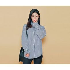 HOTPING - Button-Detail Loose-Fit Shirt (2 Designs)