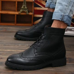 Muyu - Brogue Lace Up Short Boots
