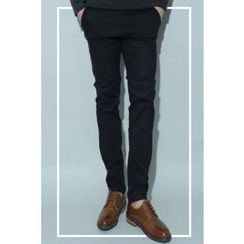 Ohkkage - Band-Waist Cotton Pants
