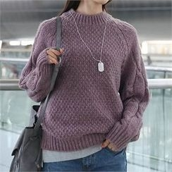 CHICFOX - Mock-Neck Knit Sweater