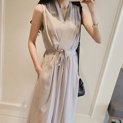 Oaksa - Sleeveless A-Line Maxi Chiffon Dress