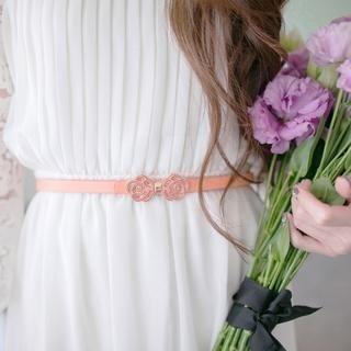 Tokyo Fashion - Floral-Accent Slim Belt