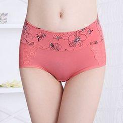 camikiss - Floral Print Panel Panties