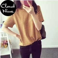 Cloud Nine - Short-Sleeve Striped T-Shirt