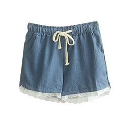 Angel Love - Lace Denim Shorts