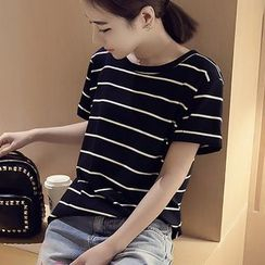 MayFair - Short-Sleeve Striped T-Shirt