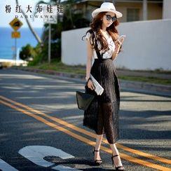 Dabuwawa - Plain Pleated Jumper Skirt