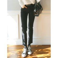 LOLOten - Brushed-Fleece Lined Straight-Cut Jeans