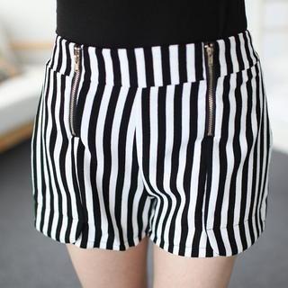 Mini Jule - Double-Zip Patterned Shorts