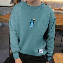 Hissse - Print Fleece-Lined Sweatshirt