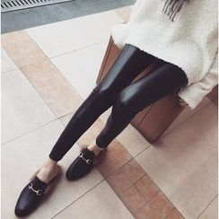 Jeans Kingdom - Faux Leather Leggings